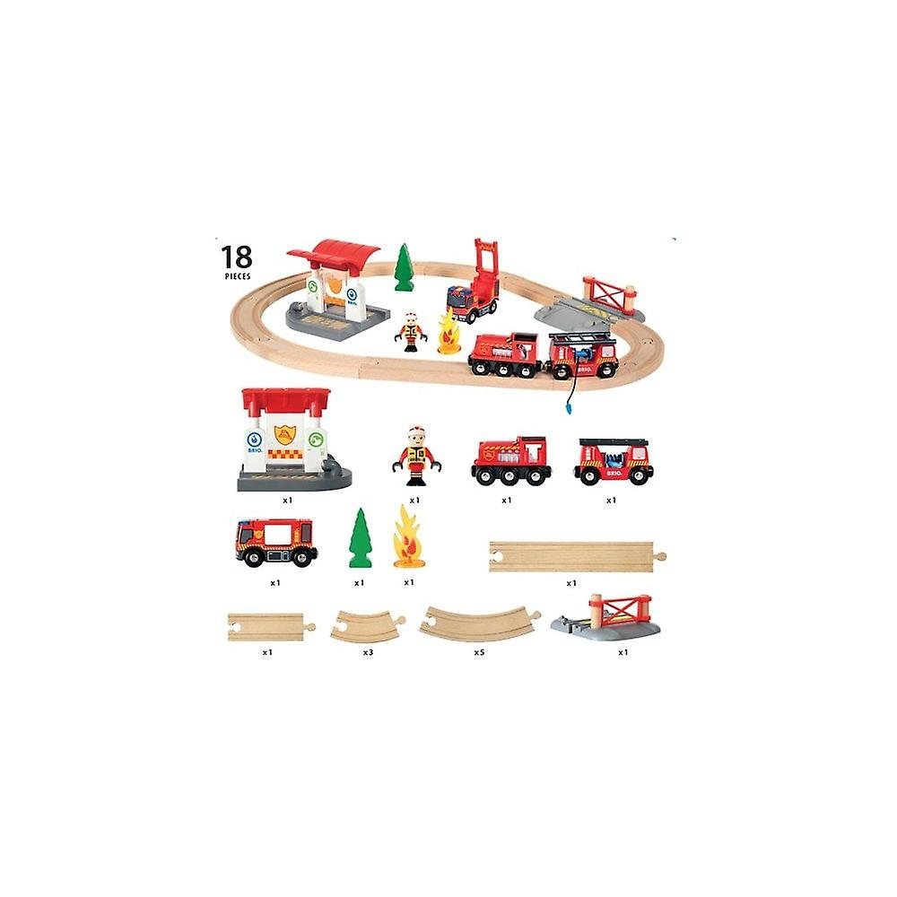 Brio 33815  Wooden Railway - Firefighter Set