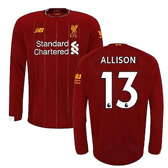 2019-2020 Liverpool Home Long Sleeve Shirt (Kids) (Allison 13)