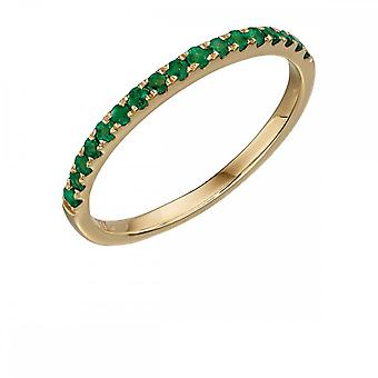 Elements Gold Yellow Gold Emerald Band Ring GR538G
