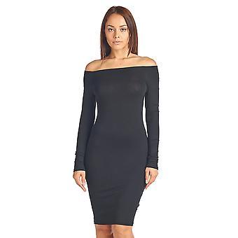 Sharon's Outlet Long Sleeve Off Shoulder Dress