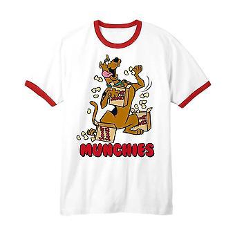 Men's Scooby Doo Munchies White Ringer T-Shirt