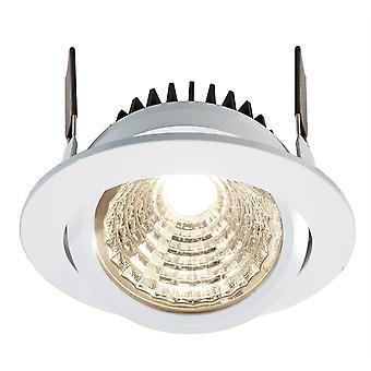 LED infällda tak lampa COB 95 24V rund vit D 115mm 12 Watt 4000 K IP20