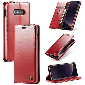 Case For Samsung Galaxy S10th Red Card Holder