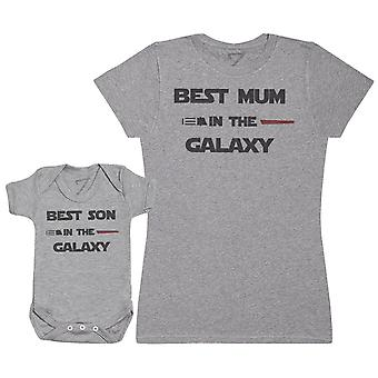 Best Mum And Son In The Galaxy - Baby Bodysuit & Mother's T-Shirt