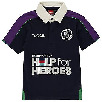 VX-3 Boys 3 Help For Heroes Scotland Shirt Junior Replica Top