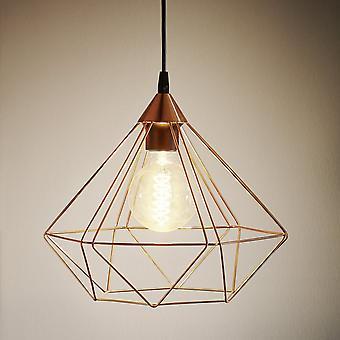 EGLO Tarbes koppar färgade hänge ljus