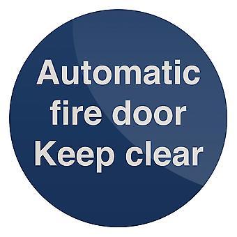 Automatische branddeur Sign-100x100mm zelfklevend