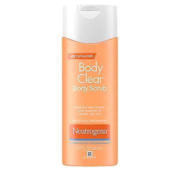 Neutrogena body clear body scrub, salicylic acid acne treatment, 8.5 oz