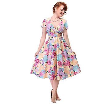 Collectif Vintage Women's Maria Flared English Garden Floral Dress