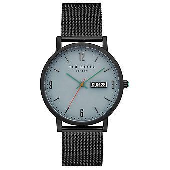 Ted Baker Grant Light Blue Dial Black Mesh Bracelet Men's Watch TE15196014
