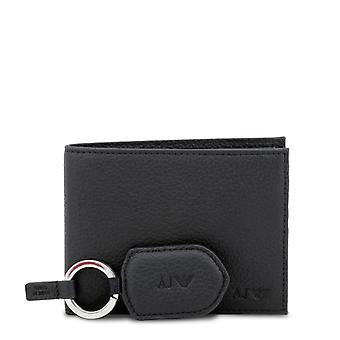 Armani jeans men's wallet and key holder giftset all black 937502 cd992