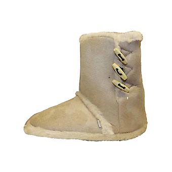 Coolers Womens Faux Fur Lined Ankle Boot Slippers