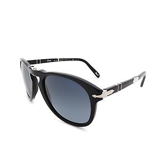 Persol Steve McQueen Blue Lens Black Sunglasses