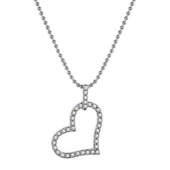 18k white-gold plated candy necklace