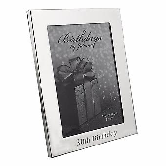 Impressions By Juliana 30th Birthday Silver Plated 5 X 7 Photo Frame