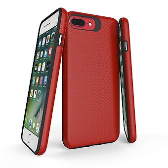 For iPhone 8, 7, 6 & 6S Case, Red Armor Slim Shockproof Protective Phone Cover