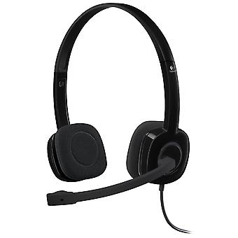 Logitech H151 Stereo Headset With Microphone In-Line Audio Controls