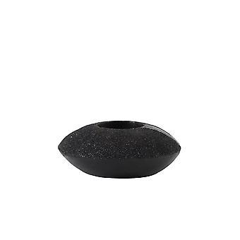 Light & Living Tealight 11.5x4.5cm - Glam Black Glitter