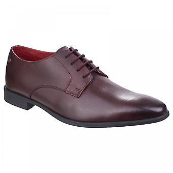 Base London Mens Shilling Waxy Bordo Leather Derby Lace Up Shoes