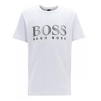 Hugo Boss Leisure Wear Hugo Boss Mens White Regular Fit UV Protected T-Shirt