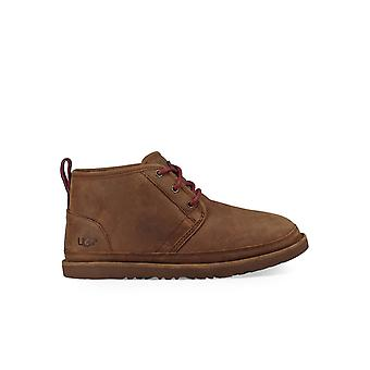 UGG BROWN LEATHER NEUMEL WATERPROOF LACE UP BOOT