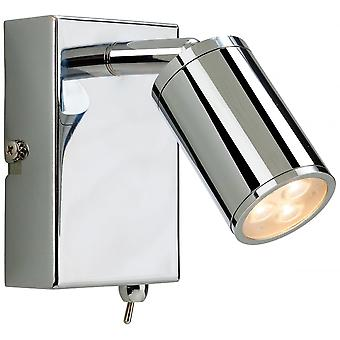 Firstlight Motive Modern Chrome LED Wall Light With Switch