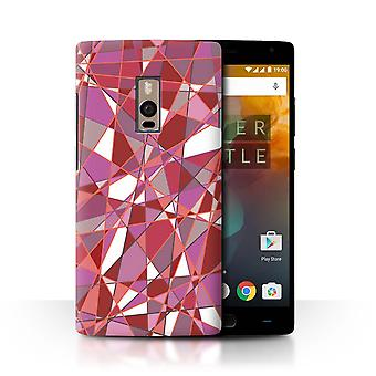 STUFF4 Case/Cover for OnePlus 2/Two/Glass Prism/Shatter/Red Fashion