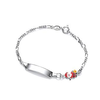 David Deyong Children's Sterling Silver Father Christmas Id Bracelet