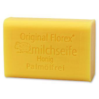 Florex Schafmilchseife - Honig ohne Palmöl- süß duftende Seife mit Extrakt vom Honig spendet intensive Feuchtigkeit 100 g