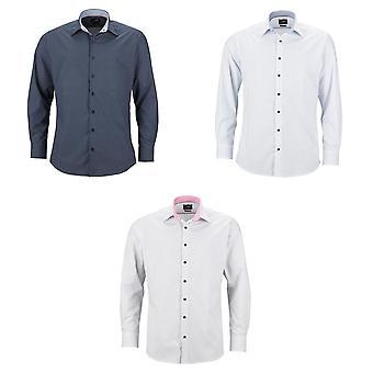James en Nicholson Mens Classic Fit overhemd van de Dots