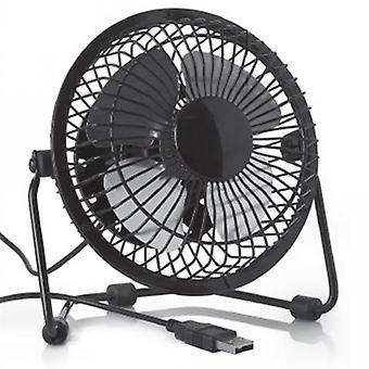 Usb Fan For The Office /desktop  Low Noise 2 Speeds 360 Degrees Rotation  Easy To Carry Around  Black