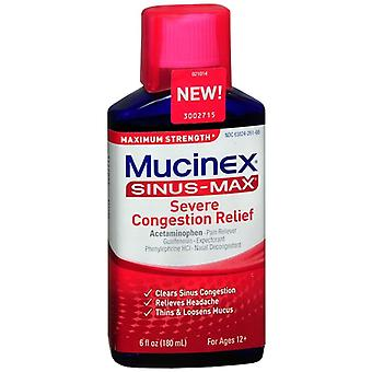 Mucinex sinus-max adult severe congestion relief liquid, 6 oz