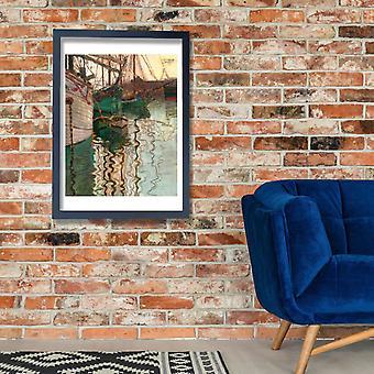 Egon Schiele - Schiele Hafen-triest Poster impressão giclée