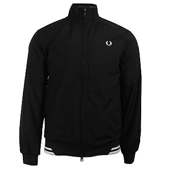 Fred perry men's twin tipped black sports jacket