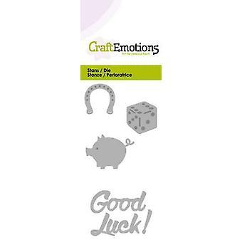 CraftEmotions Die - Powodzenia! Karta 5x10cm