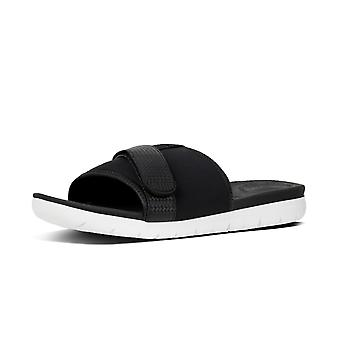 FitFlop Neoflex™ Slide Sandals In Black Mix