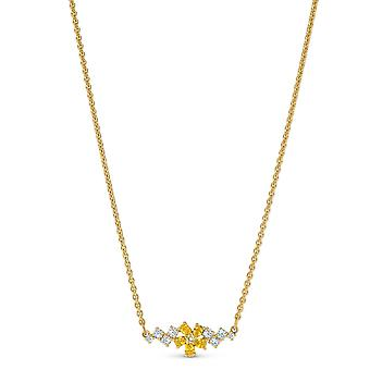 COLLIER Swarovski 5535781 - Halskette M tal Cha dor e Blume schwarze Kristalle Frau