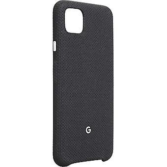 Officiella Google Pixel 4 XL Fabric Case Cover - Bara svart (GA01276)