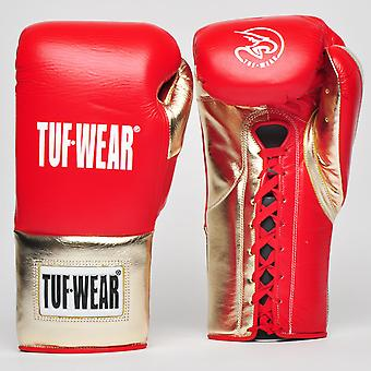 Tuf Wear Sabre Contest Gloves (British Board of Control Approved) Rood / Wit / Goud