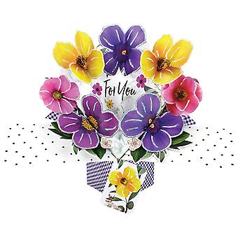 Second Nature Pop Ups Card For You Pansies Flowers
