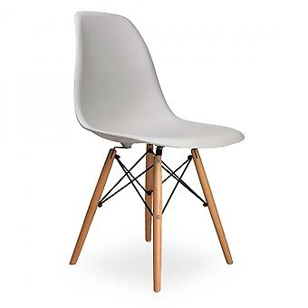 Wood4you - Essstuhl-DSW-grau - Pariso - Low - Sitzhöhe: 41 cm - 2 Stück