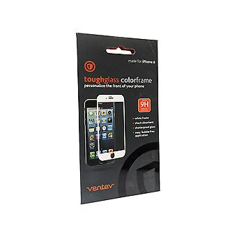 Ventev Toughglass Screen Protector for iPhone SE2/8/7/6/6s - Clear with White Frame