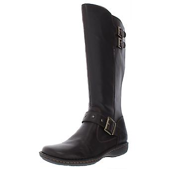 B.O.C Womens أوليفر النسيج مغلقة إلى القدم منتصف العجل أحذية الموضة