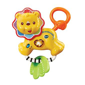 Vtech Toys My 1st Lion Electronic Baby Rattle with Textured Leaf Teether, Lights