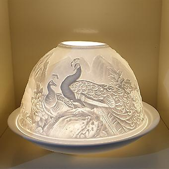 Nordic Lights Candle Shade & Plate - Peacock