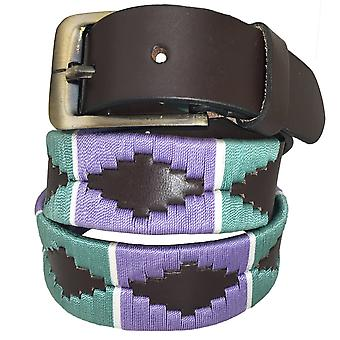 Carlos diaz unisex brun læder polo bælte cdupb123