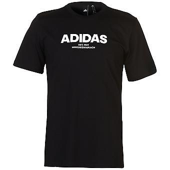 adidas Mens Gents Collo A maniche corte Leggero Casual T Shirt Top