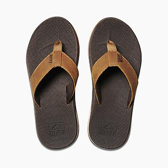 Sandales en cuir Bas En cuir de cuir de cuir de récif en brun