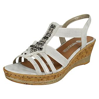 Ladies Remonte Wedge Heeled Sandals D4759