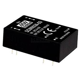 Keskimääräinen hyvin SCWN03C-05 DC/DC-muunnin (moduuli) 600 mA 3 W Ei. lähtöjen määrä: 1 x